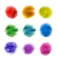 rainbow watercolor paint stains backgrounds set vector image
