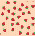 red and ripe strawberries seamless pattern vector image vector image