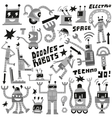 Robots - set icons vector image vector image