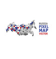 russia pixel map isolate object on white vector image vector image