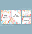 sea wedding cards invitation to summer beach vector image vector image