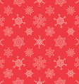 Seamless Christmas red pattern with drawn vector image vector image