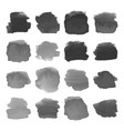 set of gray watercolor stains on white vector image vector image