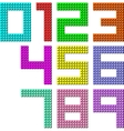 Set of pixel digit numbers vector image vector image