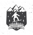 snowboard club concept for shirt or logo print vector image