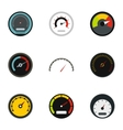 Speed measurement icons set flat style vector image vector image