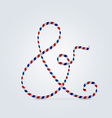 Striped font ampersand character