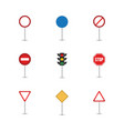 traffic sign graphic template vector image vector image