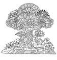 tree 5 vector image vector image