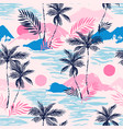 tropics background with sunset sea exotic islands vector image