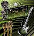 vintage rock music background vector image