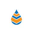 waterdrop business logo vector image