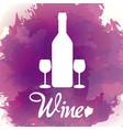 wine bottle silhouette vector image vector image