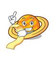 with menu planet saturnus mascot cartoon vector image