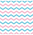 zigzag lines pattern pink and blue background vector image