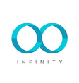 Infinity logo flat colors template vector image