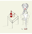 woman with a cigarette vector image
