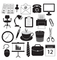 Business and Office Organization Icons vector image