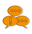conversation bubbles icon image vector image