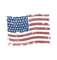 grunge american flag vector image