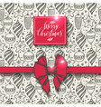 christmas seamless pattern with christmas elements vector image