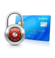 Online payments security concept vector image