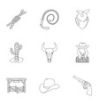 a set of pictures about cowboys cowboys on the vector image vector image