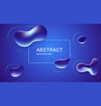 abstract blue background with liquid bubbles vector image
