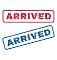 Arrived Rubber Stamps vector image vector image