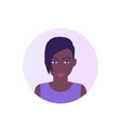 avatar icon african american girl vector image