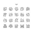 baby well-crafted pixel perfect icons vector image