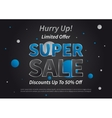 Banner Super Sale horizontal vector image