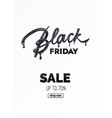 black friday sale label ad vector image vector image