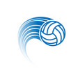 blue volleyball with track vector image vector image