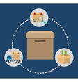 Box package delivery shipping icon graphic vector image vector image