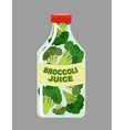 Broccoli juice Juice from fresh vegetables vector image vector image