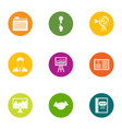 business allocate icons set flat style vector image vector image