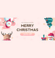 christmas discount banner template mockup vector image