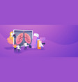 chronic obstructive pulmonary disease concept vector image vector image