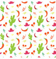 cinco de mayo mexican holiday seamless pattern vector image vector image