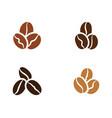 coffee bean icon vector image vector image
