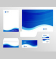 corporate identity template design visual vector image vector image