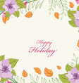 Country floral Flowers background vector image vector image