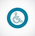 cripple icon bold blue circle border vector image vector image