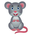 cute cartoon mouse vector image vector image