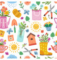 cute colorful spring pattern bright floral design vector image vector image