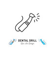 dental drill icon dental instruments dental care vector image vector image