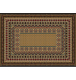 Design classic carpet with various patterns vector image vector image