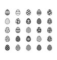 easter food flat glyph icons set painted eggs vector image vector image