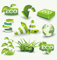 eco icons template set of graphic design elements vector image